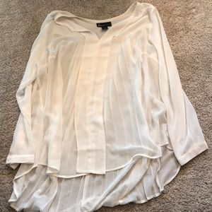 Cream pleated blouse